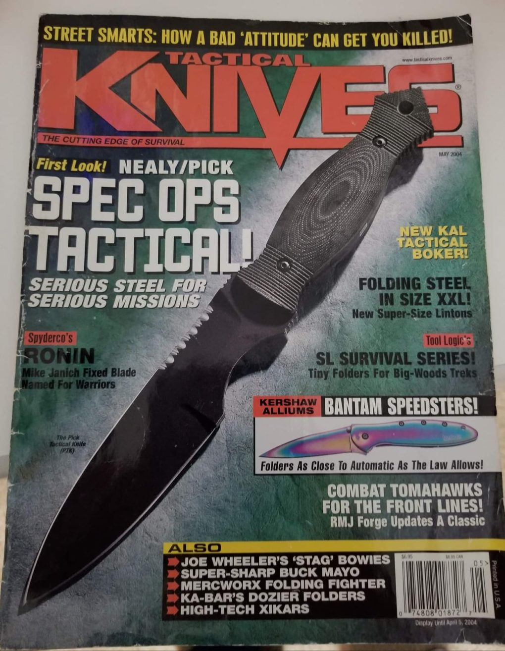 Tactical Knives Spec Ops UKF Kenpo